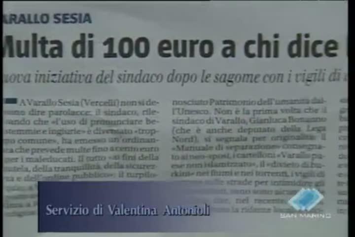 Troppe parolacce e allora il sindaco mette una multa di 100 euro per i maleducati