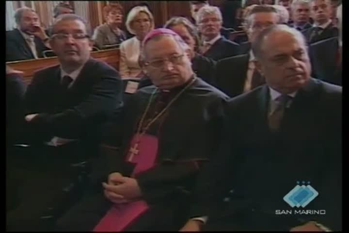 Pier Luigi Vigna oratore ufficiale dell'insediamento dei Reggenti