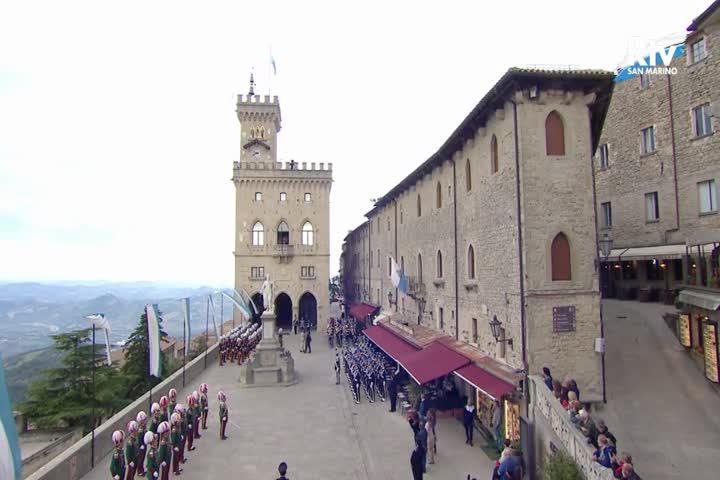 Cerimonia di insediamento dei Capitani Reggenti Mirco Tomassoni II e Luca Santolini I