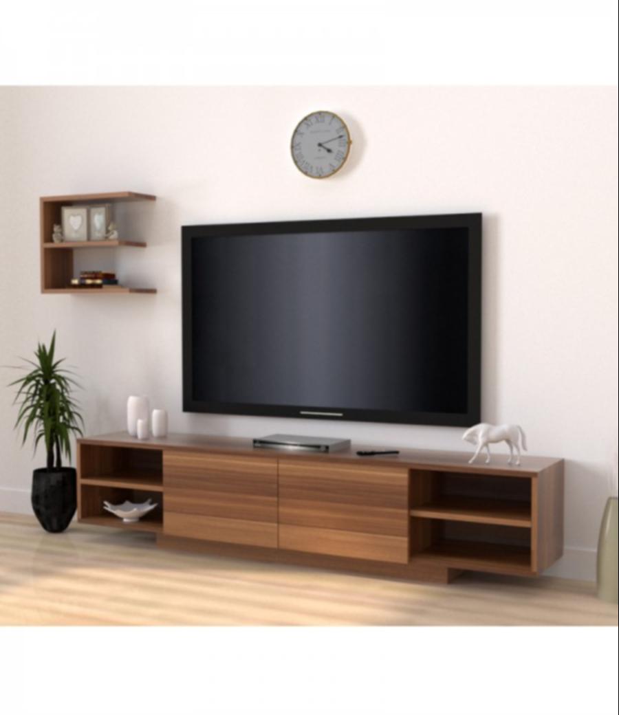 طاولة تلفزيون-اللون بني
