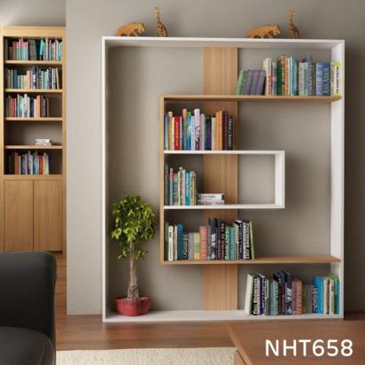 خزانة كتب مفتوحة بديكور عصري NHT658