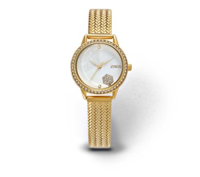 ساعة زايروس ذهبية وبمينا منقوشة