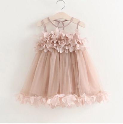 فستان طفلة بدون اكمام مستورد