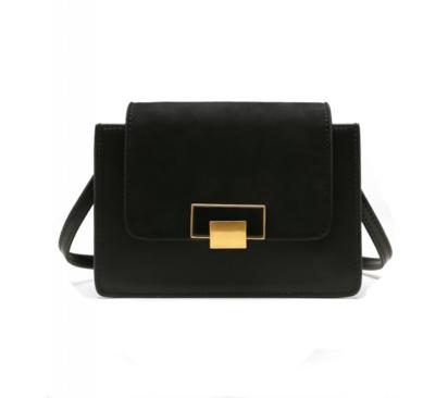 حقيبة لوميدس جلد و مخمل أسود