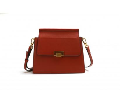 حقيبة لوميدس جلد أحمر