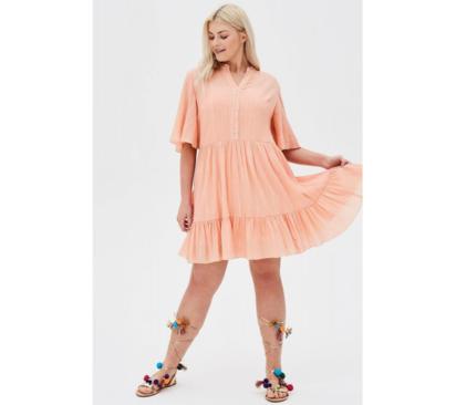 فستان نسائي ELVI اللون مشمشي