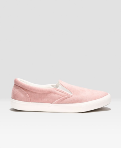 حذاء نسائي مضلع وردي