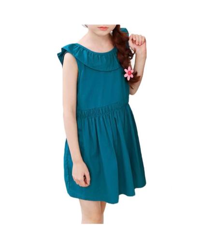 فستان عاري الكشكشة على شكل V