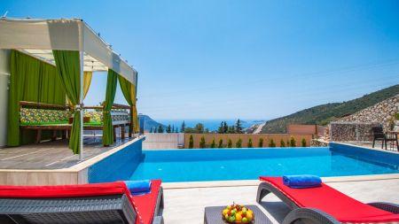 Kaş Kalkan'da 2 Kişilik Jakuzili Villa