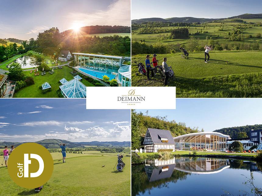 6 Tage Golf Urlaub im Hochsauerland im Romantik- und Wellnesshotel Deimann