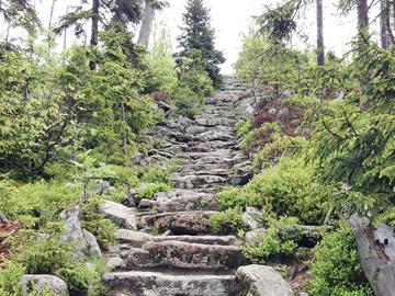 Treppe-Gipfel