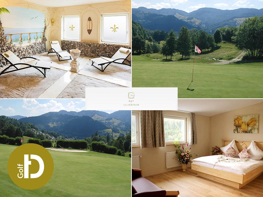 6 Tage Golf Urlaub im Hotel Gut Lilienfein in Wieden mit Halbpension