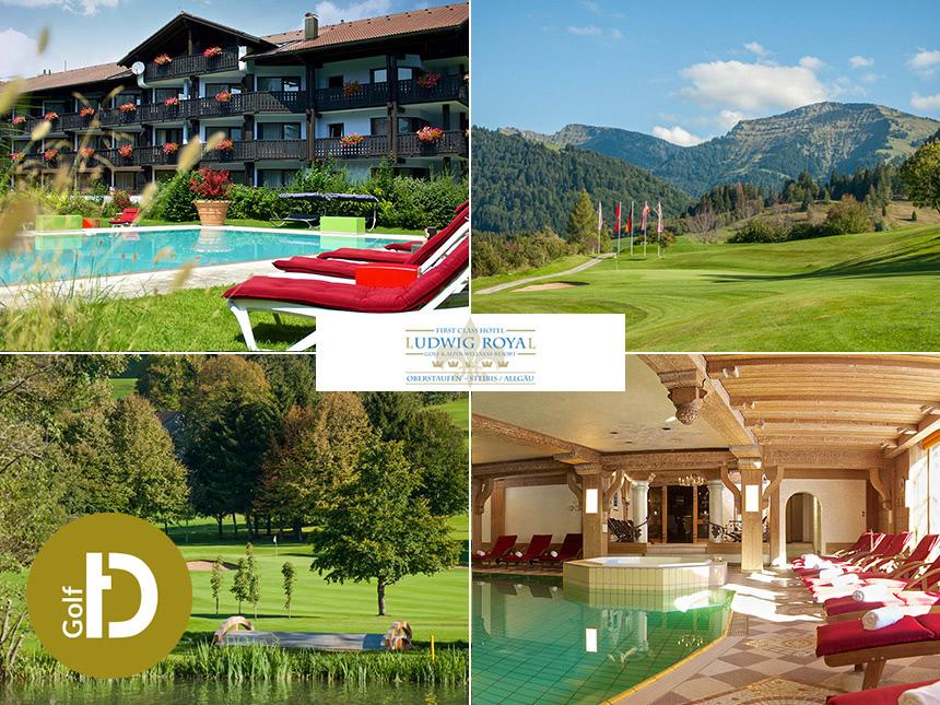 6 Tage Golf Single Urlaub in Oberstaufen im Hotel Ludwig Royal mit Halbpension