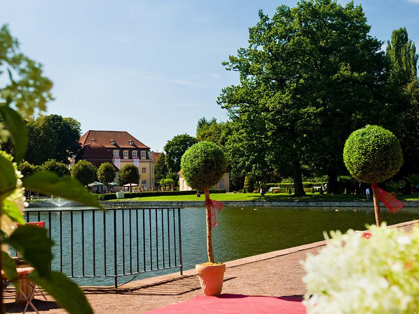 6 Tage Urlaub in Bad Lauchstädt an der Saale im Kurpark-Hotel mit Halbpension