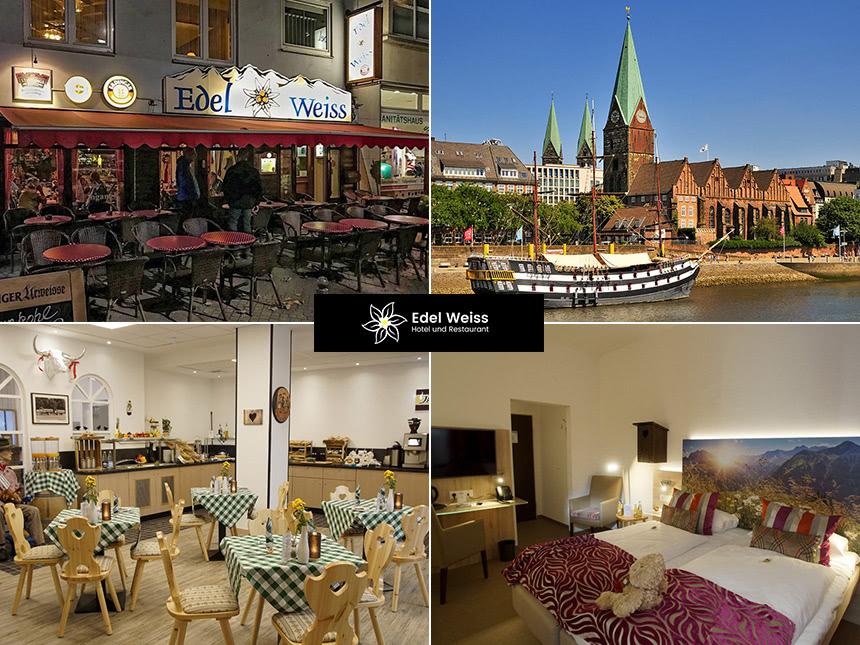 4 Tage Kurzurlaub im Hotel Edelweiss in Bremen mit Frühstück