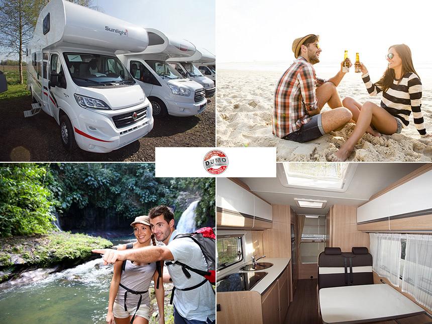 14 Tage Urlaub im Reisemobil Family Alkoven der Firma Dümo