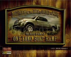 toyota motor sales Usa toyota tundra boat ramp give A Man A fish print 29117 adeevee