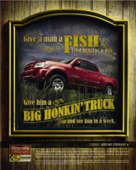 toyota motor sales Usa toyota tundra boat ramp give A Man A fish print 29118 adeevee