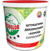 фото Штукатурка декоративная силиконовая «короед» (белая) зерно: 2,0мм; 2,5мм, Anserglob