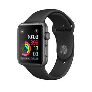 фото Apple Watch Series 1 38mm Space Gray Aluminum Case with Black Sport Band (MP022)