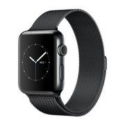 фото Apple Watch Series 2 42mm Space Black Stainless Steel Case with Space Black Milanese Loop Band (MNQ12)