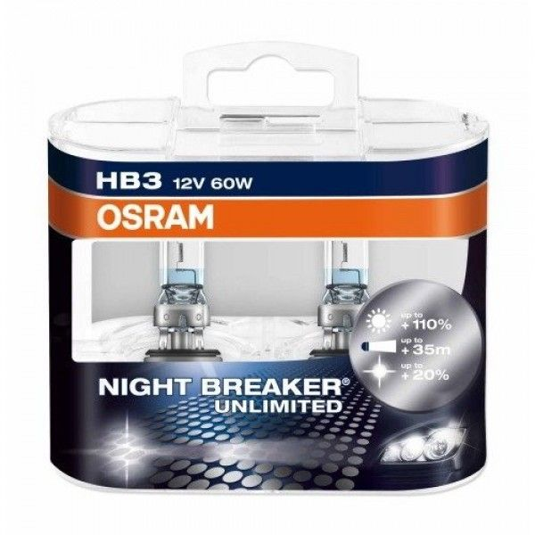 Osram HВ3(9005) Night Braker Unlimited 12V 60W (9005NBUHCB)