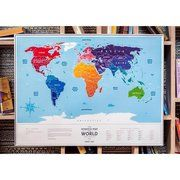 фото Travel Map Скретч карта мира на английском Travel map Плакат со стирающимся серебристым сло