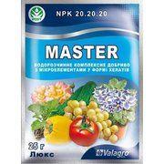 фото Valagro Master(Мастер) Люкс для всех видов овощей, цветов и рассады NPK 20.20.20, 25гр