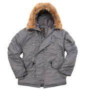 фото Куртка Аляска N3-B Parka Alpha Industries (воронений метал)
