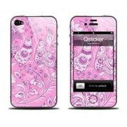 фото Qsticker Виниловая наклейка для iPhone 4S Gzel Pink