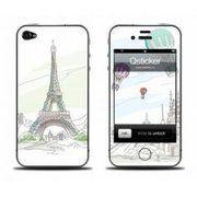 фото Qsticker Виниловая наклейка для iPhone 4S Paris