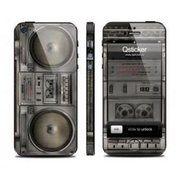фото Qsticker Виниловая наклейка для iPhone 5 Boombox