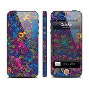 фото Qsticker Виниловая наклейка для iPhone 5 Flowers Violet