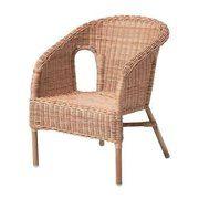 фото IKEA АГЕН, Кресло детское, ротанг, арт. 900.454.57