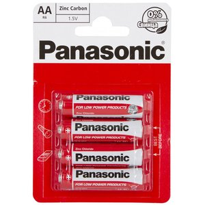 фото Батарейка Panasonic RED ZINK R6 BLI 4 ZINK-CARBON