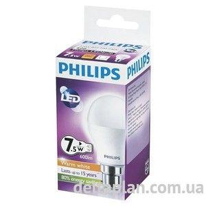 фото Philips LEDBulb 7.5-60W E27 3000K 230V A55 (PF) (929000248867)