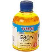 фото WWM Чернила для Epson L1800/800/810/850 200г Yellow Водорастворимые (E80/Y)
