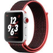 фото Apple Watch Nike+ Series 3 GPS + Cellular 42mm Silver Aluminum w. Bright Crimson/BlackSport L. (MQLE2)