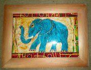 """фото Картина витраж """"Волшебный слон"""""""