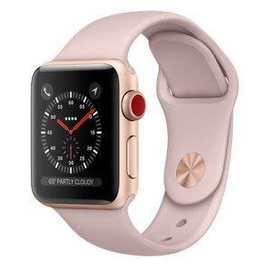 фото Apple Watch Series 3 GPS + Cellular 38mm Gold Aluminum w. Pink Sand Sport L. (MQJU2)