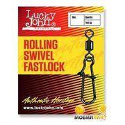 фото Lucky John Rolling Swivel Fastlock 006 (10pcs)