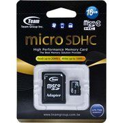 фото TEAM 16 GB microSDHC Class 10 + SD Adapter TUSDH16GCL1003
