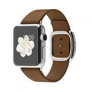 фото Apple 38mm Stainless Steel Case with Brown Modern Buckle (MJ3D2)