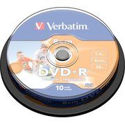 фото Verbatim Mini DVD-R Printable 1,4GB 4x Spindle Packaging 10шт (43573)