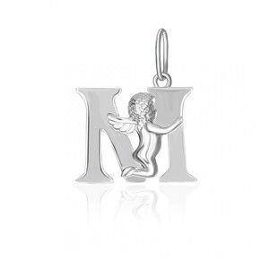 фото Silvex925 Серебряная подвеска в форме буквы М П2/319