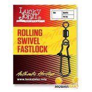 фото Lucky John Rolling Swivel Fastlock 012 (10pcs)