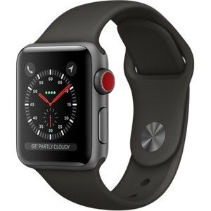 фото Apple Watch Series 3 GPS + LTE 38mm Space Gray Aluminum Case with Gray Sport Band (MR2Y2)