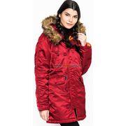 фото Зимова жіноча куртка аляска N-3B W Parka Alpha Industries (Commander Red)