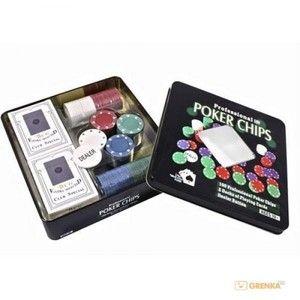 фото Duke Набор для покера в оловянном кейсе (100 фишек, 2 колоды)(TC04101N)