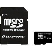 фото Silicon Power 8 GB microSDHC Class 10 + SD adapter SP008GBSTH010V10-SP